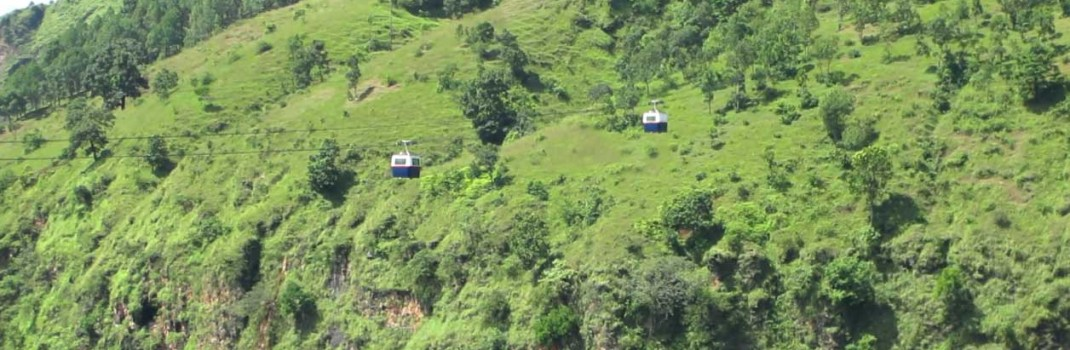 Two Cabins Crossing each other at Kusma,Parbat